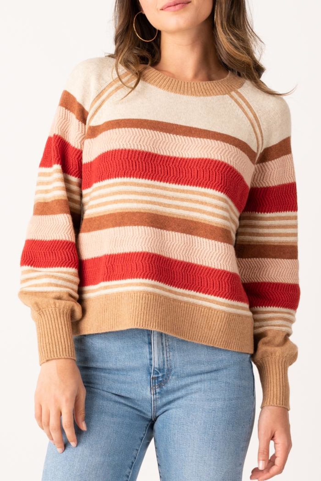 Margaret O'Leary Zoey Striped Crew - Main Image