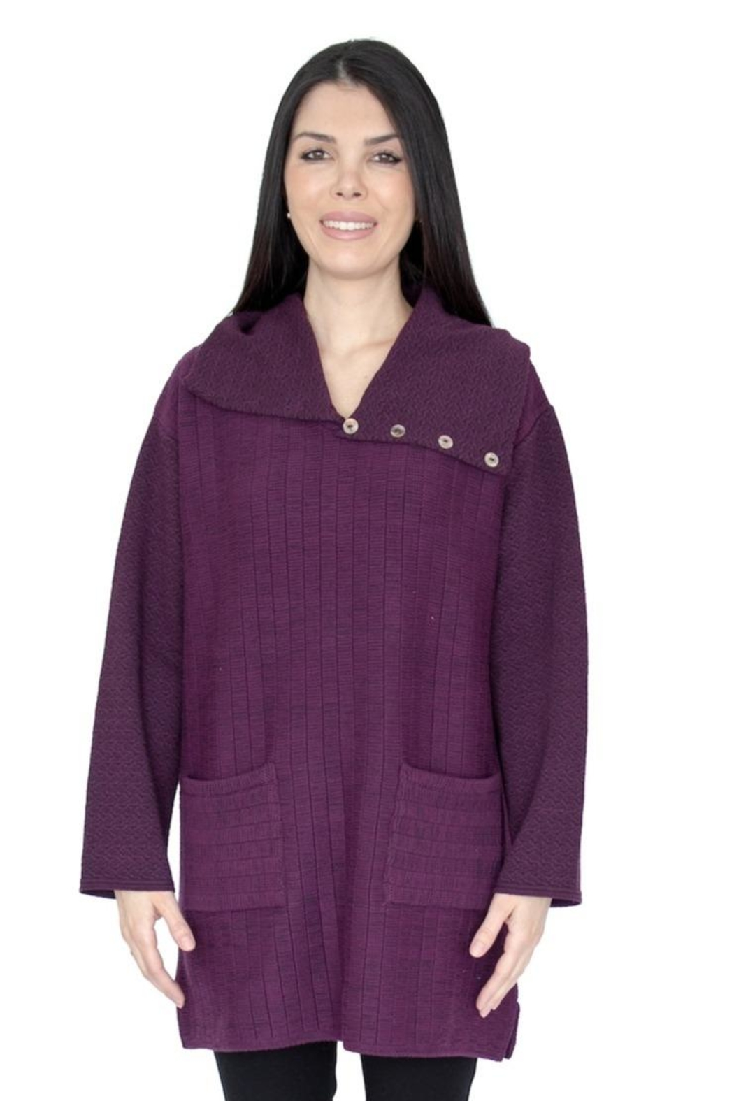 Margaret Winters Cotton Burgundy Tunic - Main Image