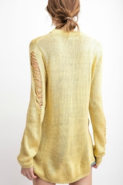 easel Margarita Ripped Sweater - Front full body