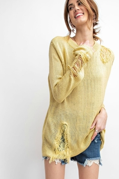 easel Margarita Ripped Sweater - Product List Image