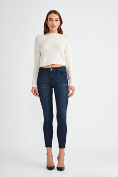 DL1961 Margaux Mid Rise Ankle Skinny in Maverick - Product List Image