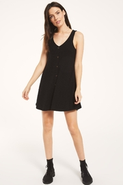 z supply Margo Rib Button Up Dress - Front cropped