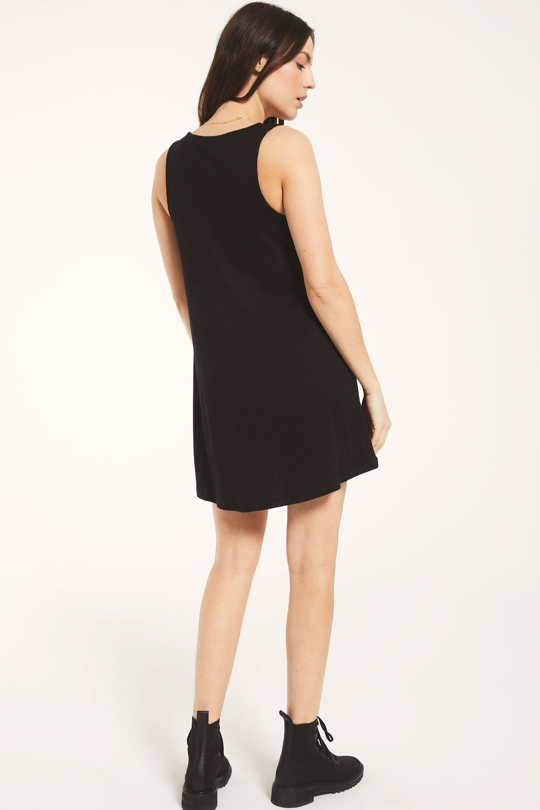 z supply Margo Rib Button Up Dress - Side Cropped Image