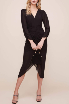 ASTR the Label Margot Ruched Front Midi Dress - Product List Image