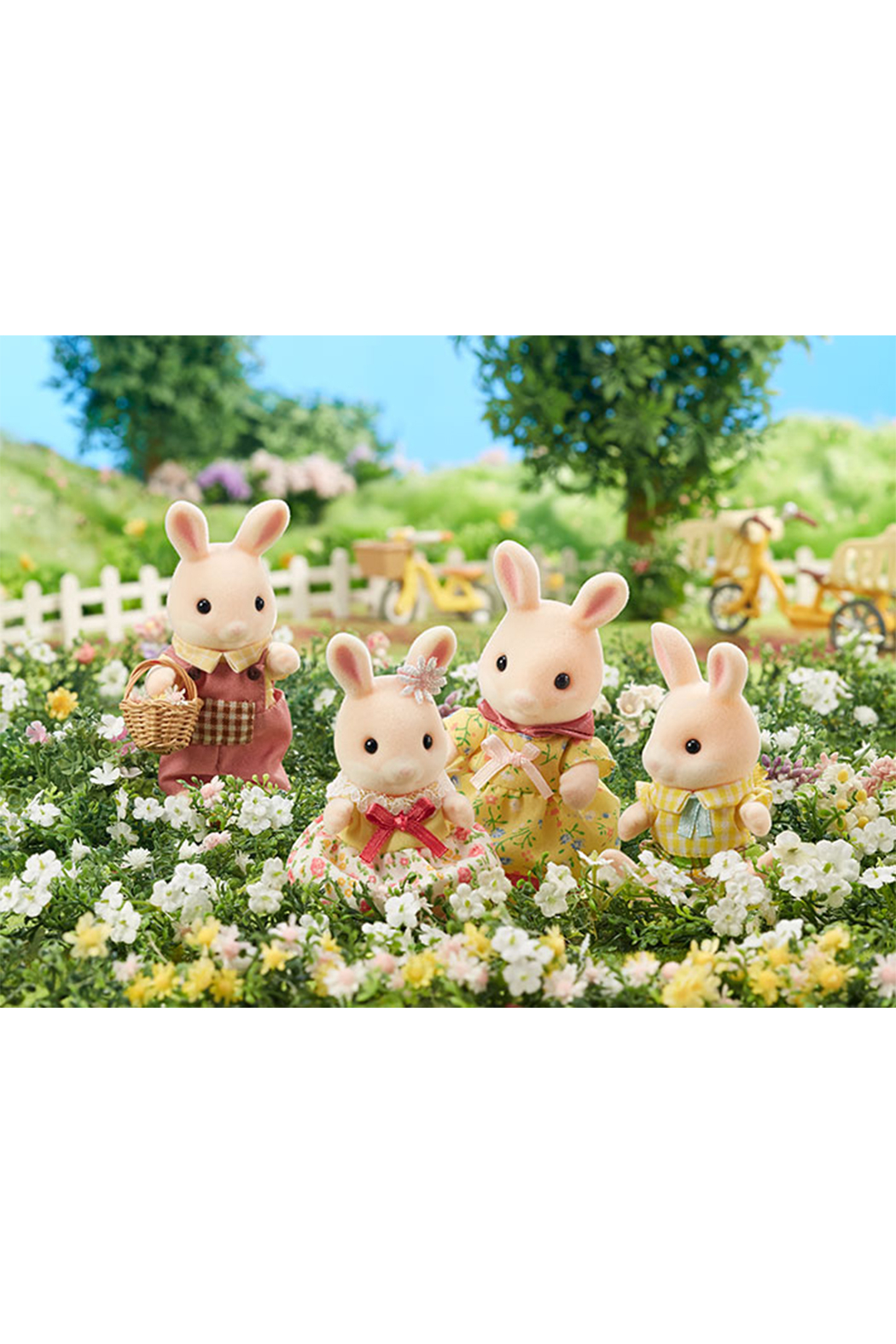 Calico Critters Marguerite Rabbit Family - Front Full Image