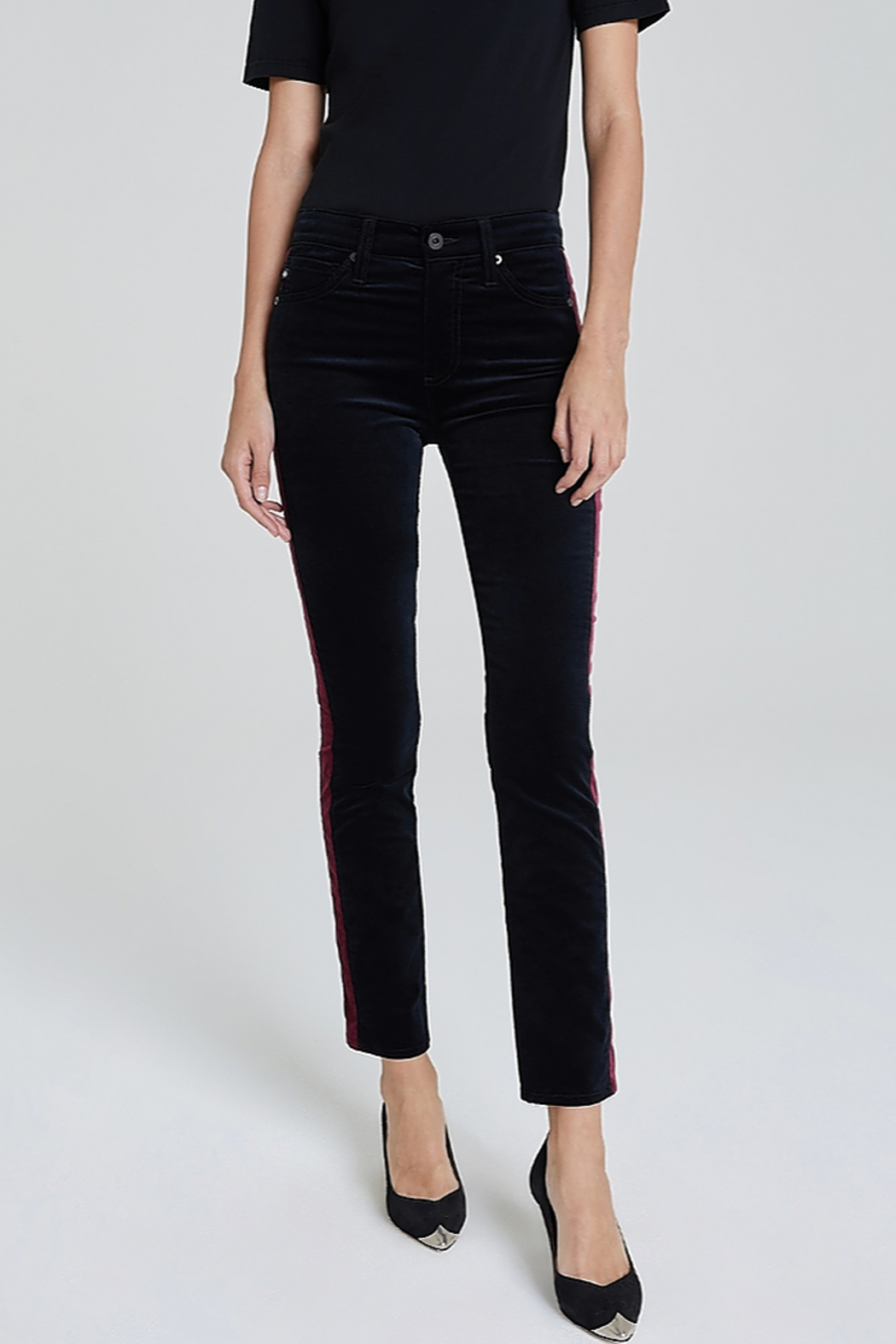 Adriano Goldschmied Mari Tuxedo Stripe Pants - Front Full Image