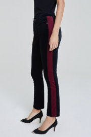 Adriano Goldschmied Mari Tuxedo Stripe Pants - Back cropped