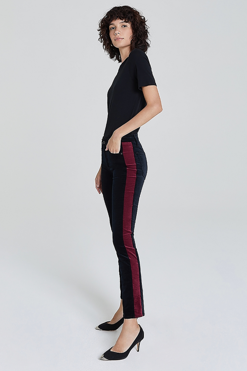 Adriano Goldschmied Mari Tuxedo Stripe Pants - Main Image