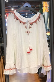 Johnny Was Maria Emb Blouse - Front cropped