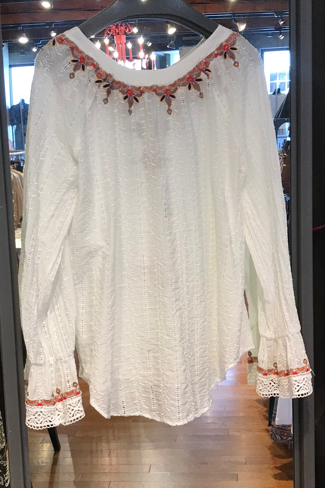 Johnny Was Maria Emb Blouse - Front Full Image