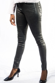 J Brand Maria High Rise Silver Lament Skinny Jeans - Product Mini Image