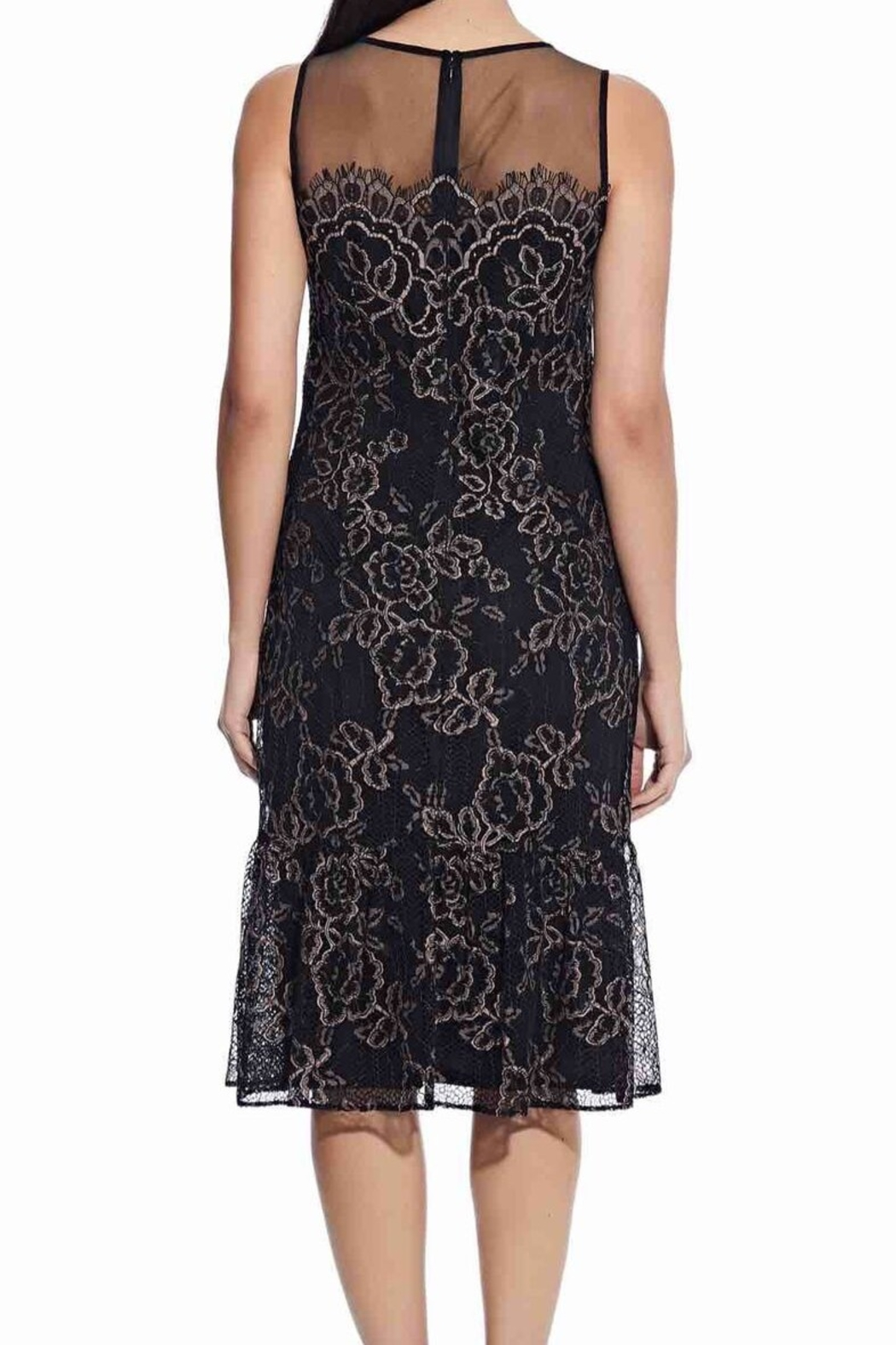 Adrianna Papell Maria Lace Midi Dress - Side Cropped Image