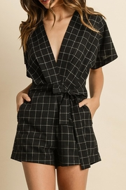 dress forum Maria Windowpane Romper - Product Mini Image