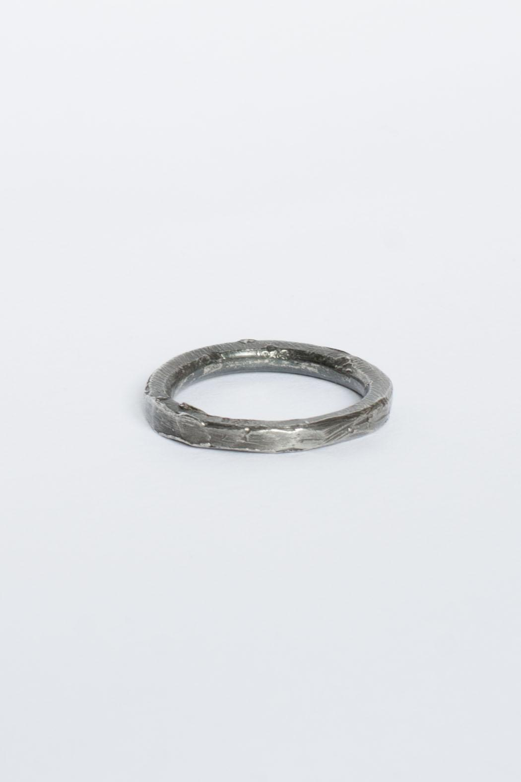 Maria Guenther Black Sculpted Ring - Main Image