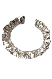 Maria Guenther Gathered Silver Bracelet - Side cropped