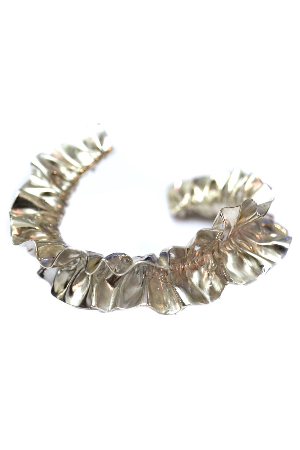 Maria Guenther Gathered Silver Bracelet - Main Image