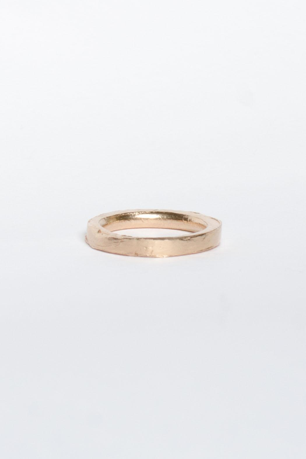 Maria Guenther Rosegold Sculpted Ring - Side Cropped Image