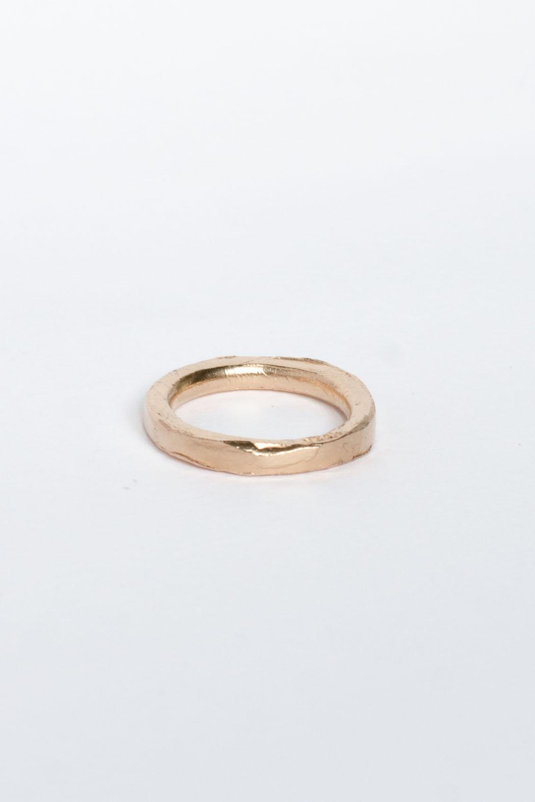 Maria Guenther Rosegold Sculpted Ring - Main Image