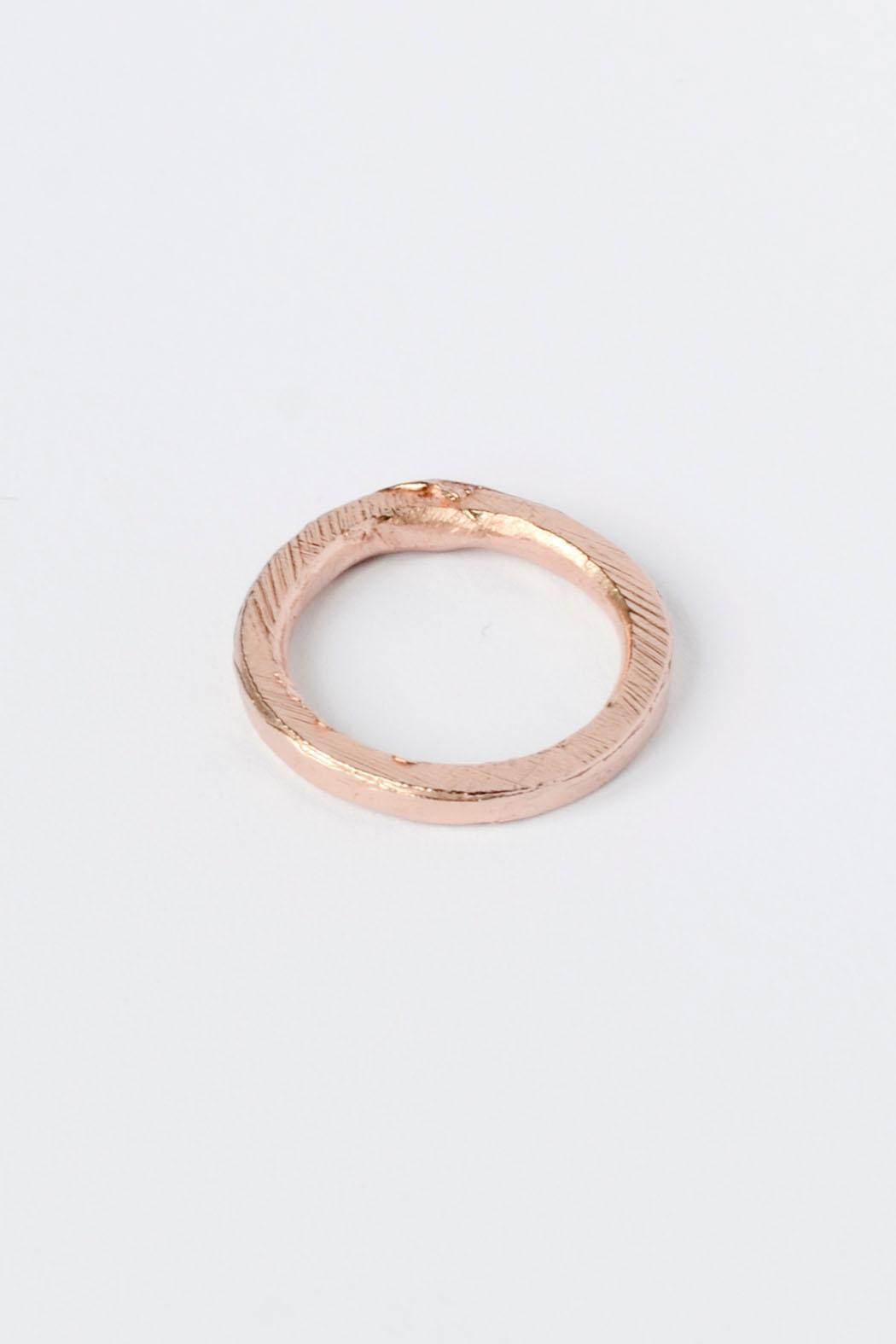 Maria Guenther Rosegold Sculpted Ring - Front Full Image
