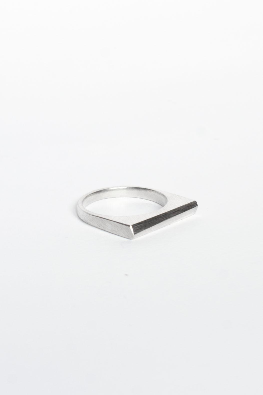 Maria Guenther Silver Angle Ring - Front Full Image