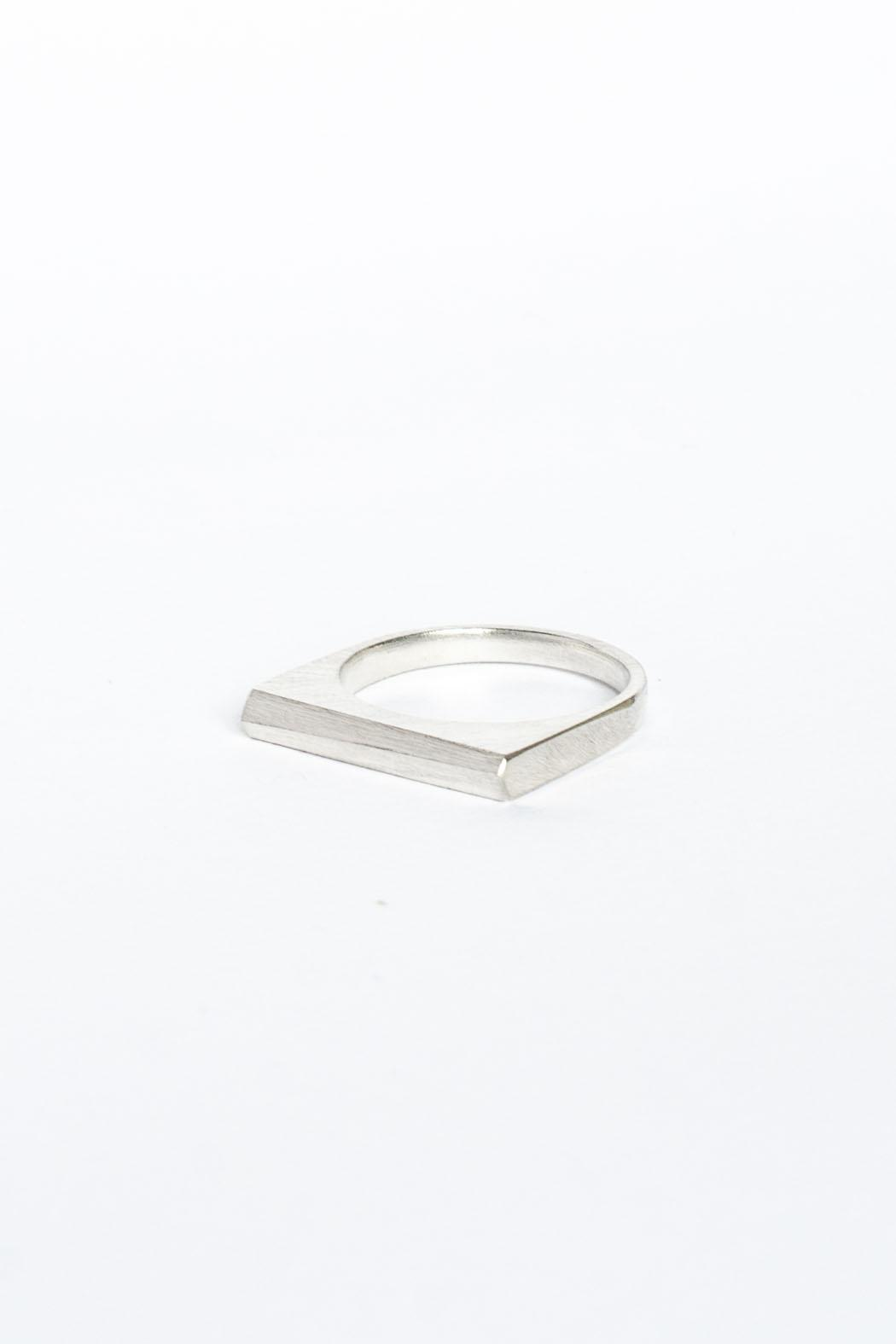 Maria Guenther Silver Angle Ring - Main Image