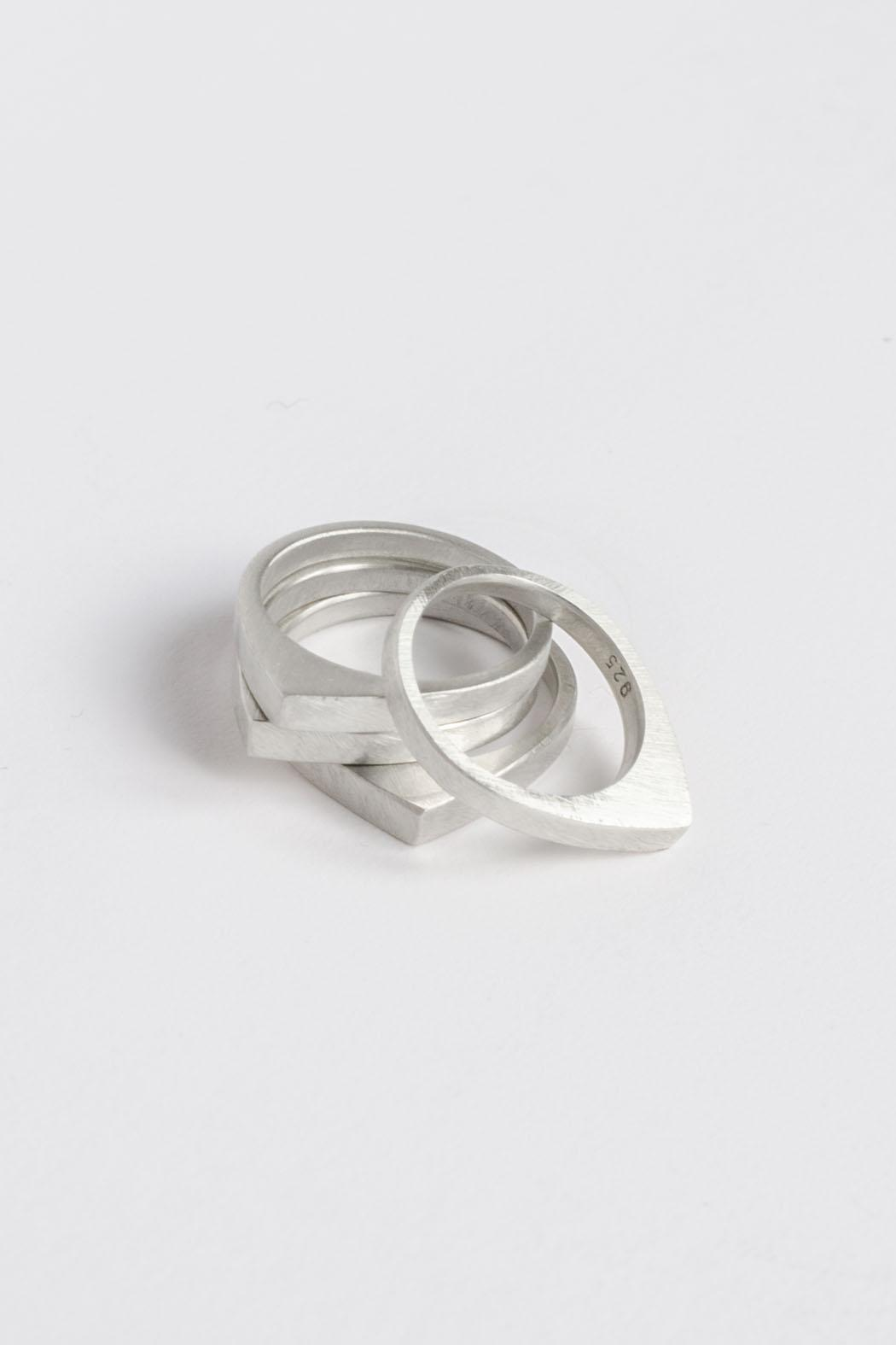 Maria Guenther Silver Peak Ring - Back Cropped Image