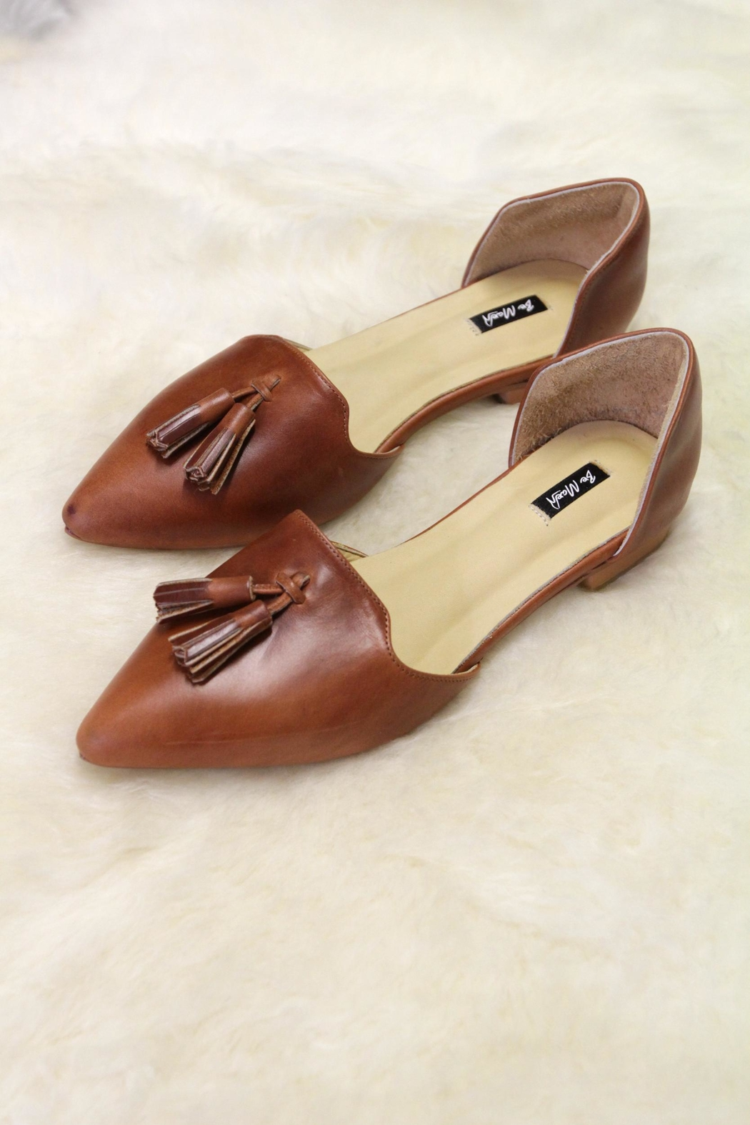 Be Mae Shoes Mariah Leather Flats - Front Cropped Image