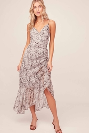 Aster Mariah Python Midi Dress - Product Mini Image