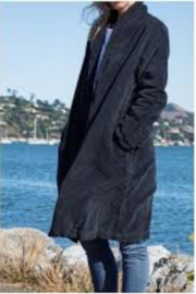CP Shades Marian Wide Wale Coat Navy Blue - Product Mini Image