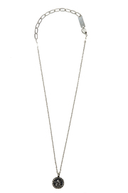 Mariana Silver Guardian Angel Necklace - Back cropped