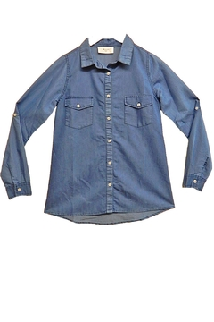 Maricela Basic Denim Top - Product List Image