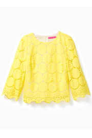 Lilly Pulitzer Mariella Scalloped Lace Top - Product Mini Image