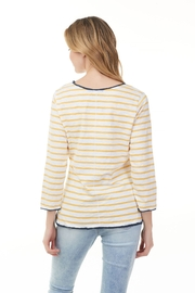 Charlie B.  Marigold and White Stripe Tee - Front full body