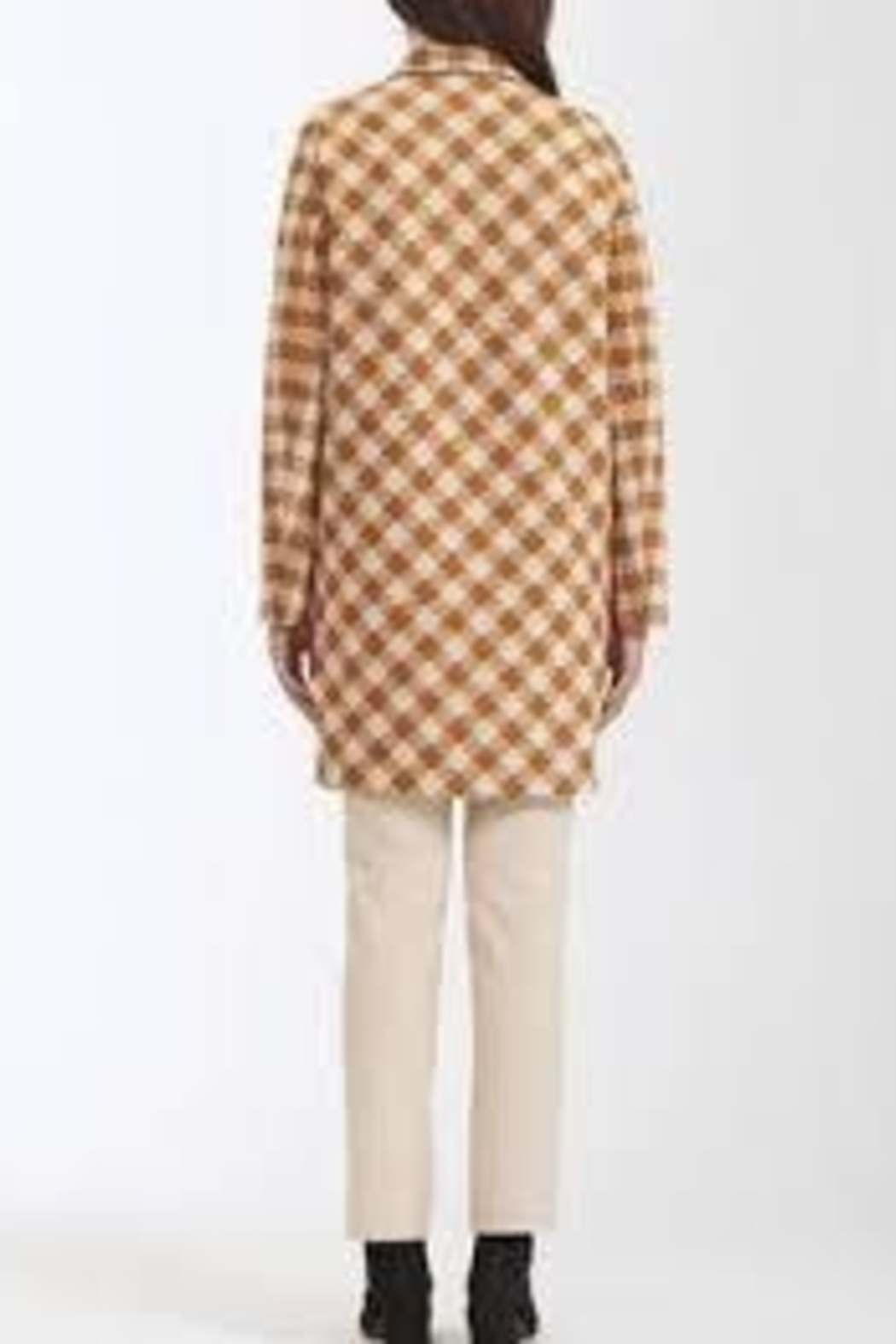 Harris Wharf London Marigold Herringbone Cocoon Coat - Side Cropped Image
