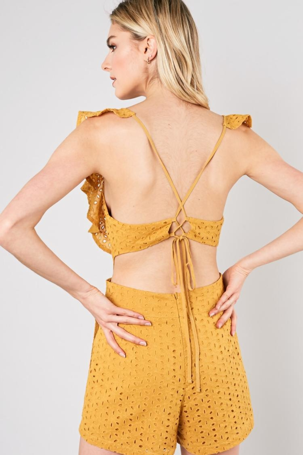 Do & Be Marigold Romper - Side Cropped Image