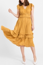 Current Air Marigold Ruffle Midi-Dress - Product Mini Image