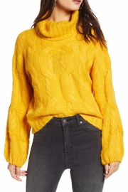 J.O.A. Marigold Turtleneck Sweater - Front cropped