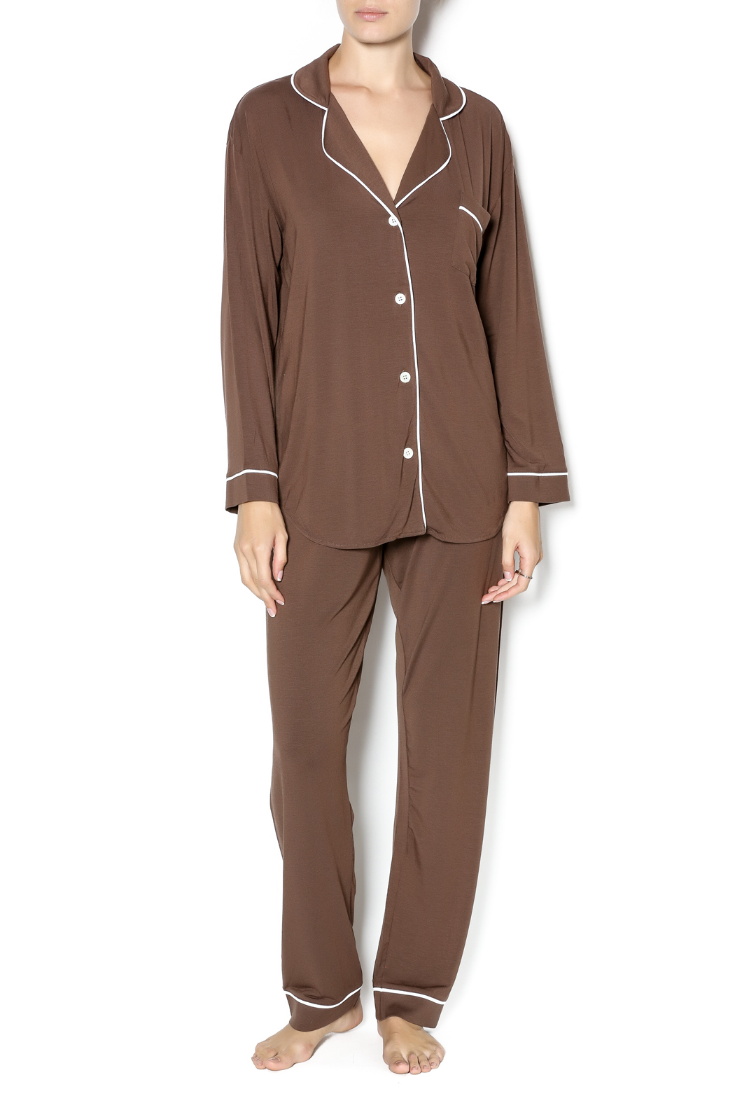 d6c62200bde0 Marigot Chocolate Brown Pajama Set from Edina by A La Mode Boutique ...