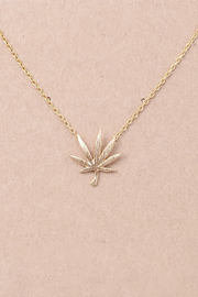 R+D Hipster Emporium  Marijuana Leaf Necklace - Product Mini Image