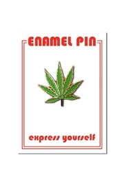 The Found Marijuana Leaf Pin - Front cropped