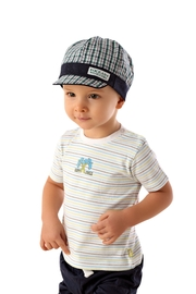 Marika Blue/green Check Cap - Front cropped