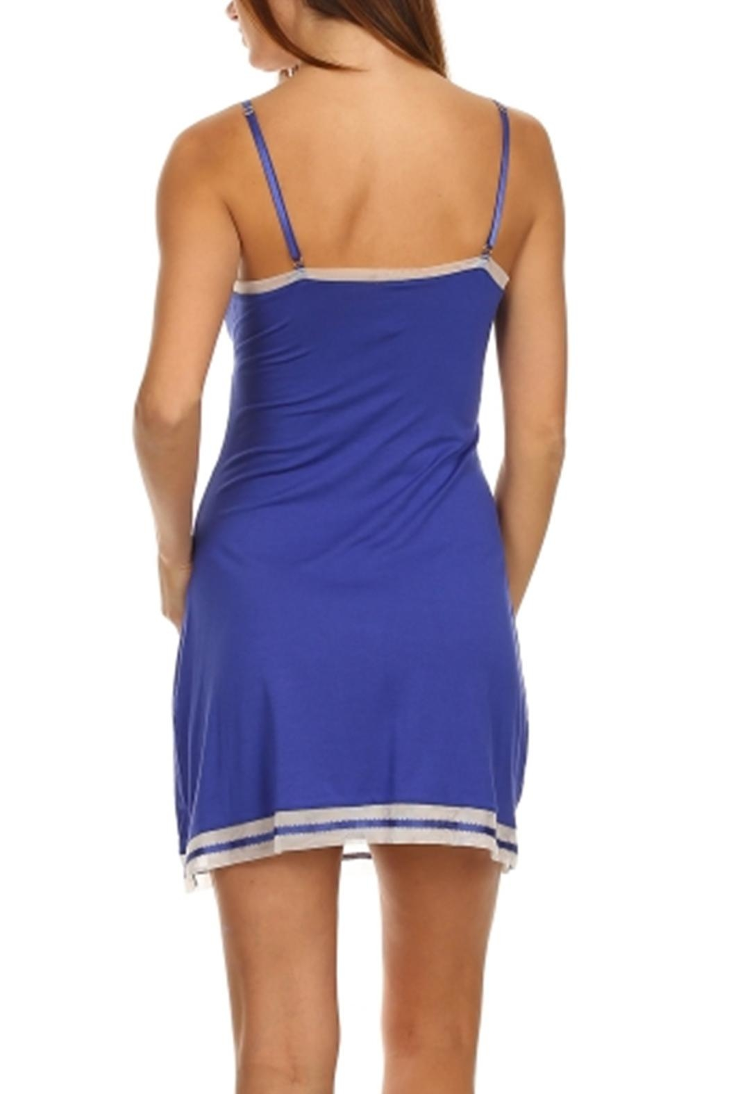 Marilyn Monroe Intimates Blue Nightgown Chemise - Side Cropped Image