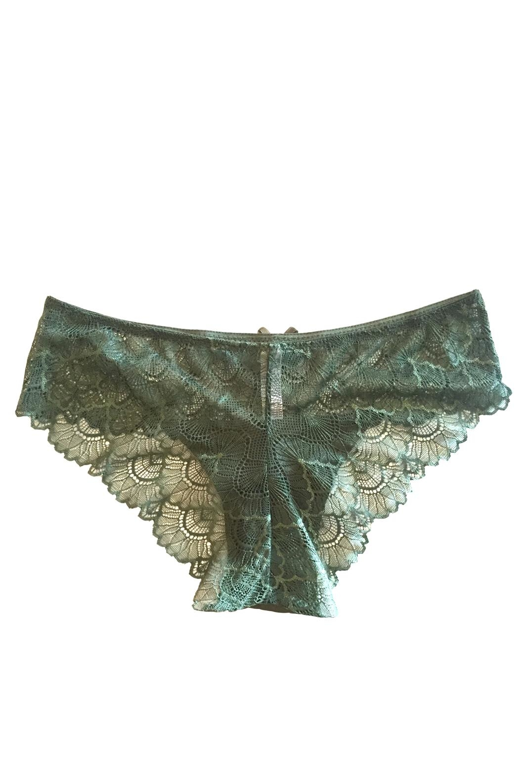 Marilyn Monroe Intimates Scalloped Lace Cheeky Panty - Front Full Image