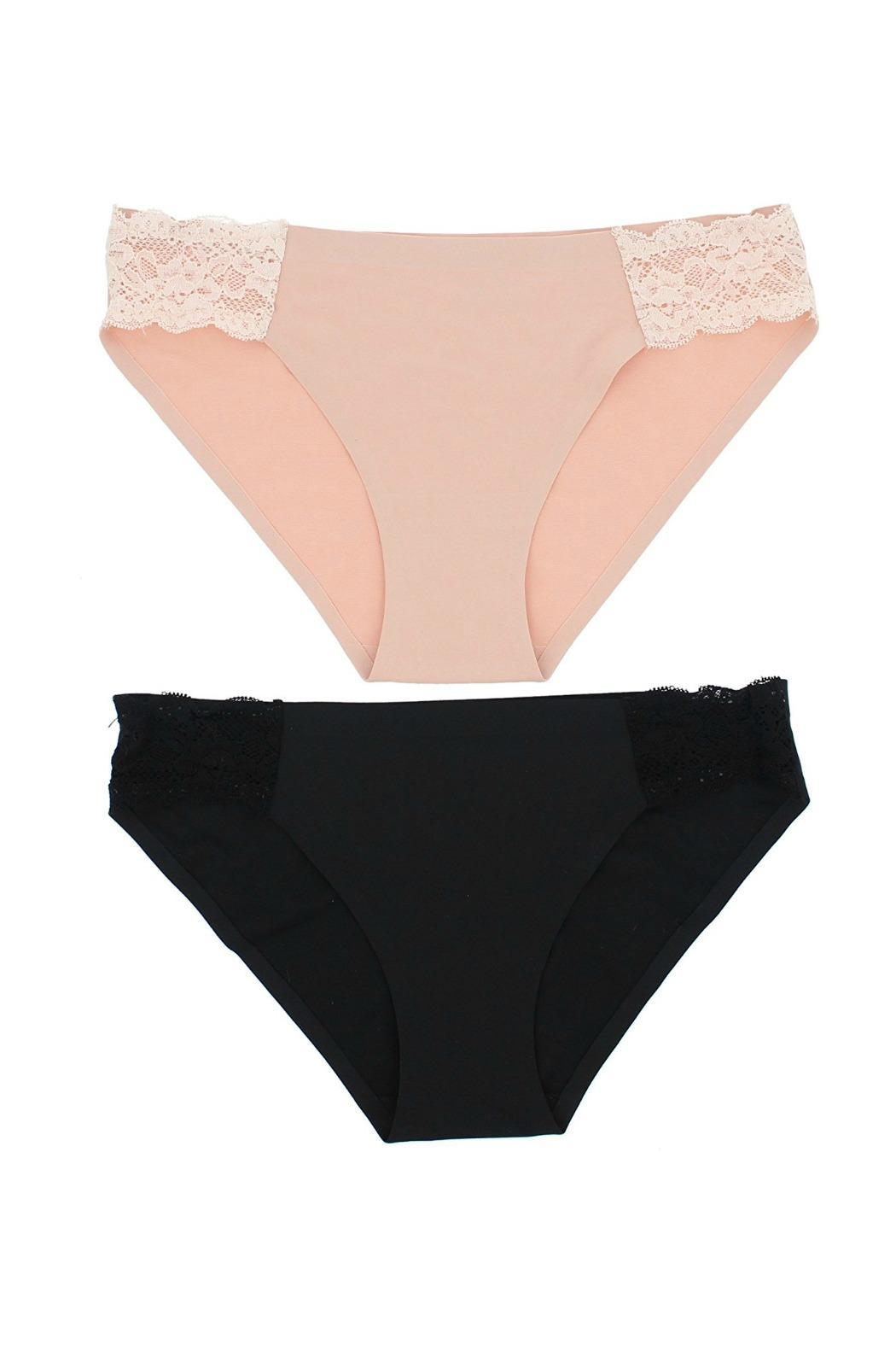 372f32cc7bae2 Marilyn Monroe Intimates Seamless Lace Panties Set - Front Cropped Image