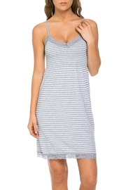 Marilyn Monroe Intimates Stretchy Grey-Stripe Nightgown - Product Mini Image