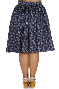 Hell Bunny Marin Nautical Skirt - Alternate List Image