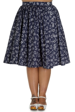 Hell Bunny Marin Nautical Skirt - Product List Image