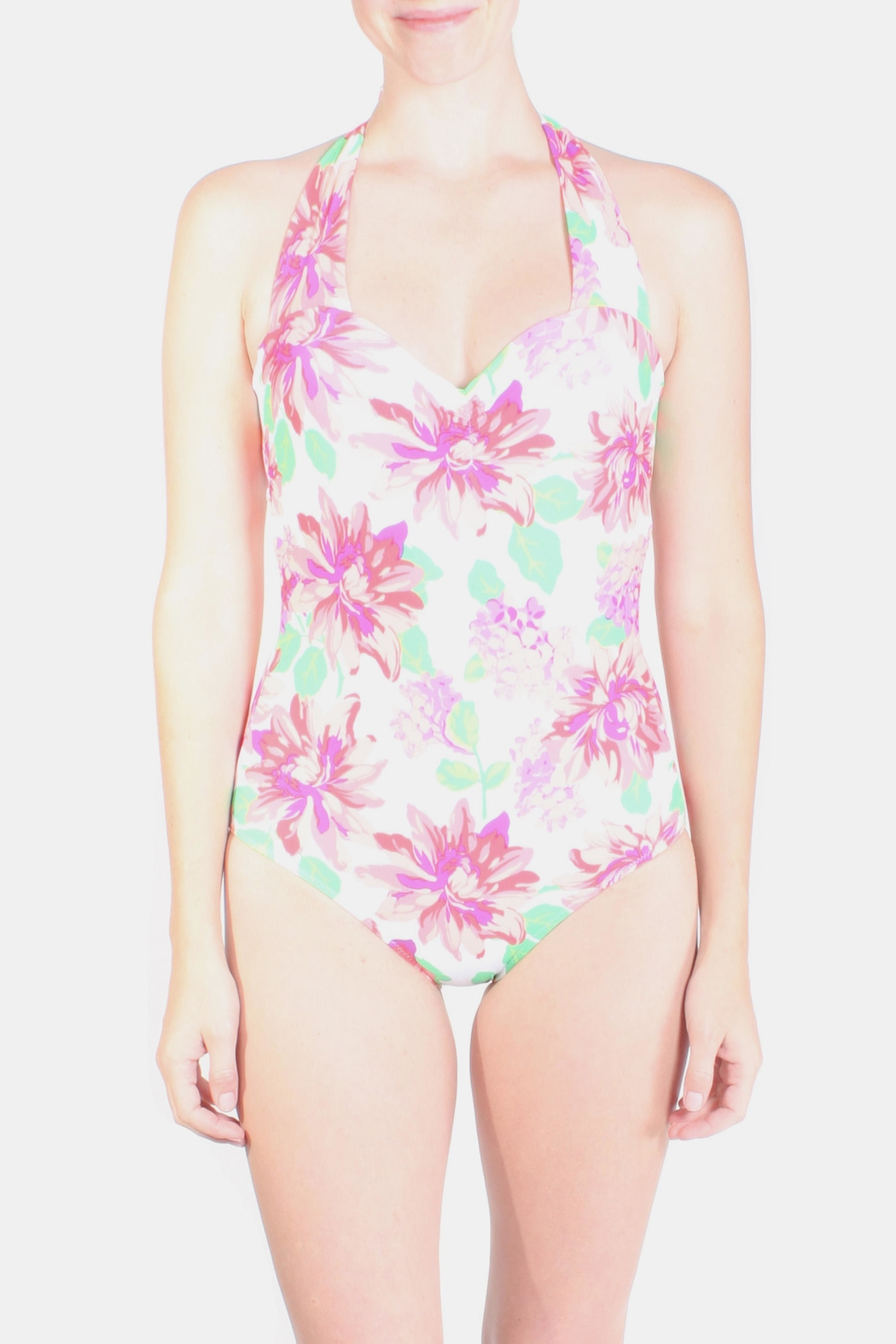 Marina Bouquet Floral Swimsuit - Front Cropped Image