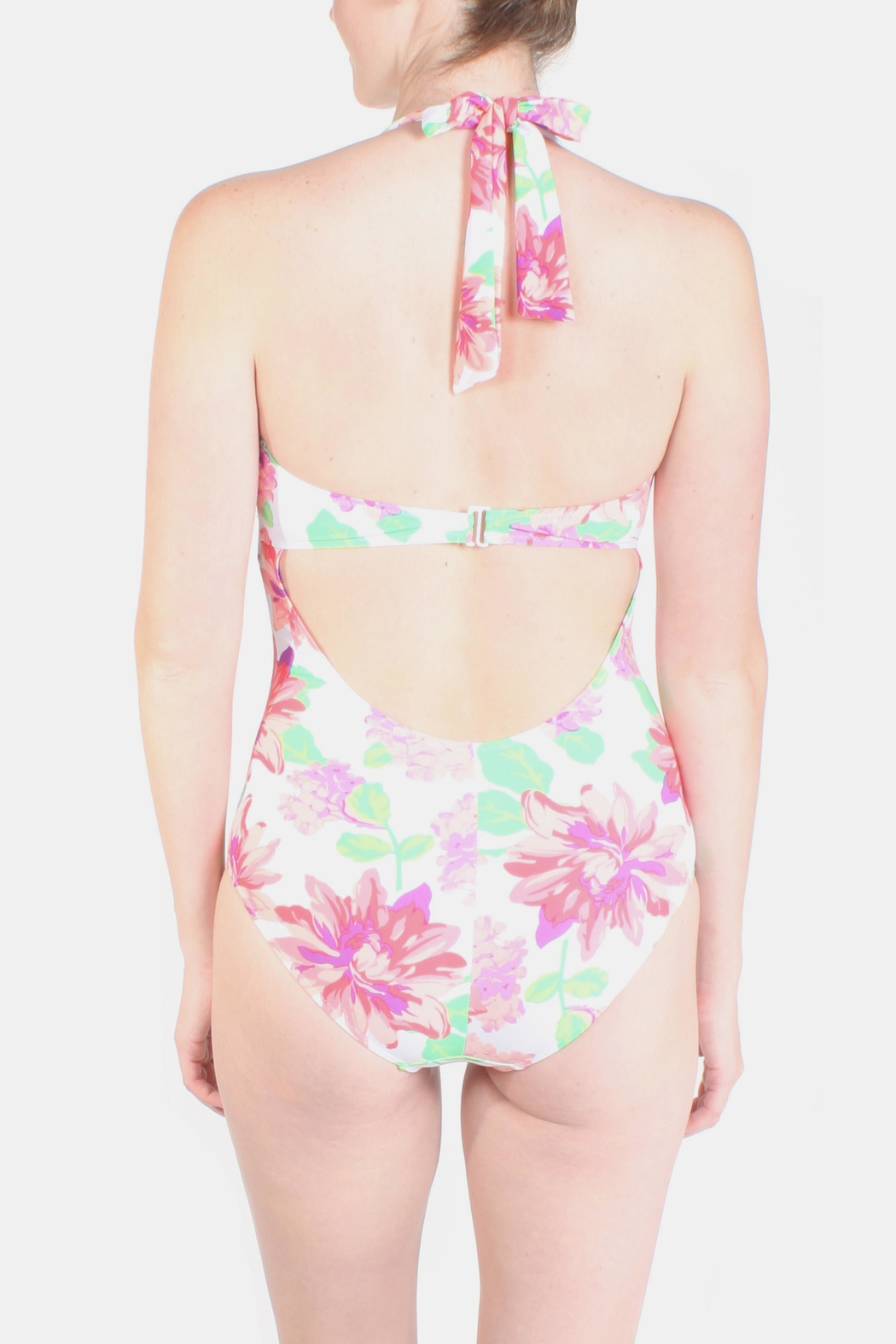 Marina Bouquet Floral Swimsuit - Back Cropped Image