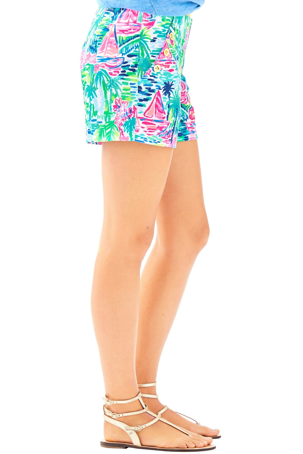 Lilly Pulitzer Marina Knit Short - Side Cropped Image